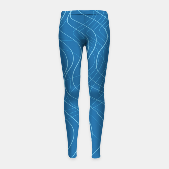 Thumbnail image of Blue Waves Lines  Girl's leggings, Live Heroes