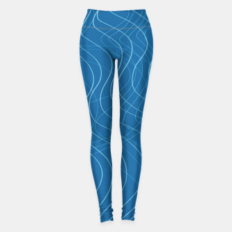 Thumbnail image of Blue Waves Lines  Leggings, Live Heroes