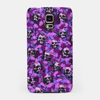 Floral Tropical Jungle Vintage Gothic Skulls Pattern Pink Samsung Case thumbnail image