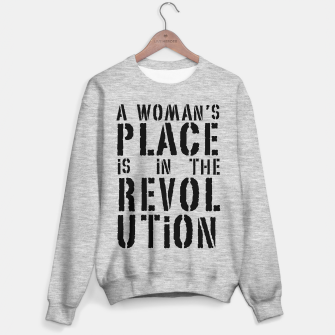 Imagen en miniatura de A woman's place is in the revolution, black text Sweater regular, Live Heroes