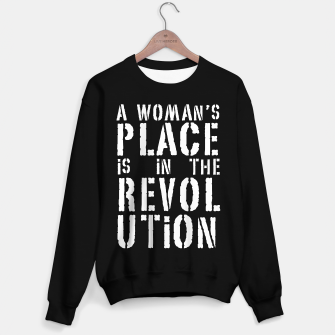 Imagen en miniatura de A woman's place is in the revolution, white text Sweater regular, Live Heroes