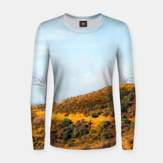 Hiking trail scenic to Hollywood Sign, Los Angeles, USA Women sweater thumbnail image
