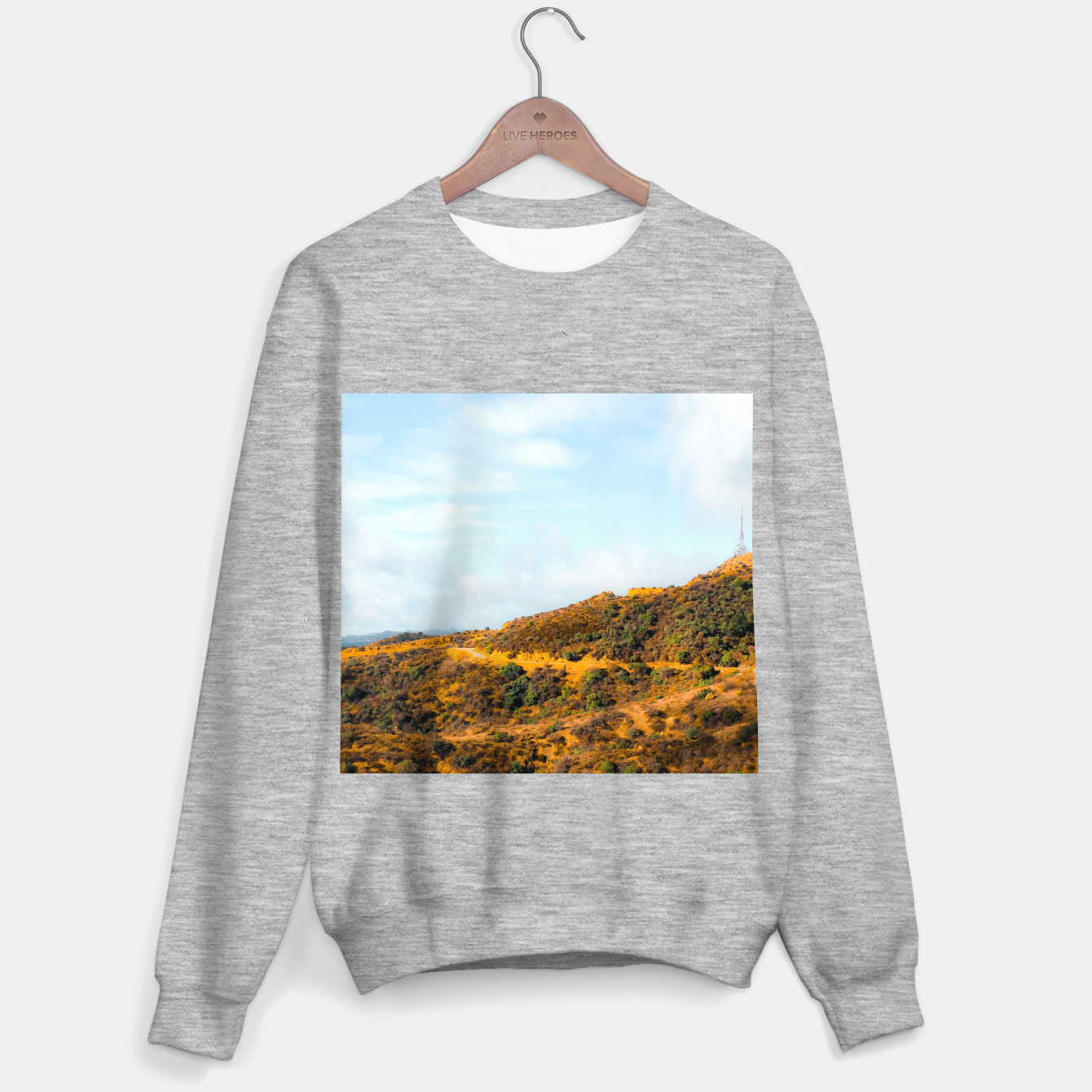 Image of Hiking trail scenic to Hollywood Sign, Los Angeles, USA Sweater regular - Live Heroes