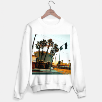 Miniatur road in the city with sunrise sky at Encino, Los Angeles, USA Sweater regular, Live Heroes