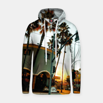 Miniatur road in the city with sunrise sky at Encino, Los Angeles, USA Hoodie, Live Heroes