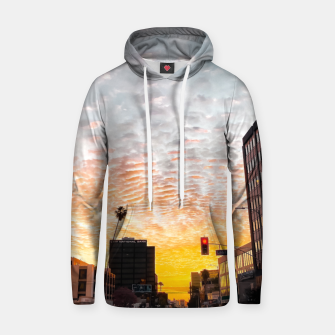Miniatur city sunrise at Encino, Los Angeles, USA Hoodie, Live Heroes