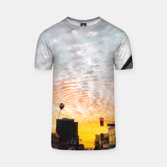 Miniatur city sunrise at Encino, Los Angeles, USA T-shirt, Live Heroes