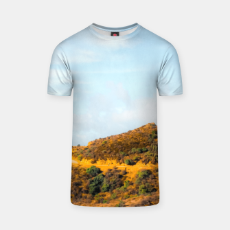Hiking trail scenic to Hollywood Sign, Los Angeles, USA T-shirt thumbnail image