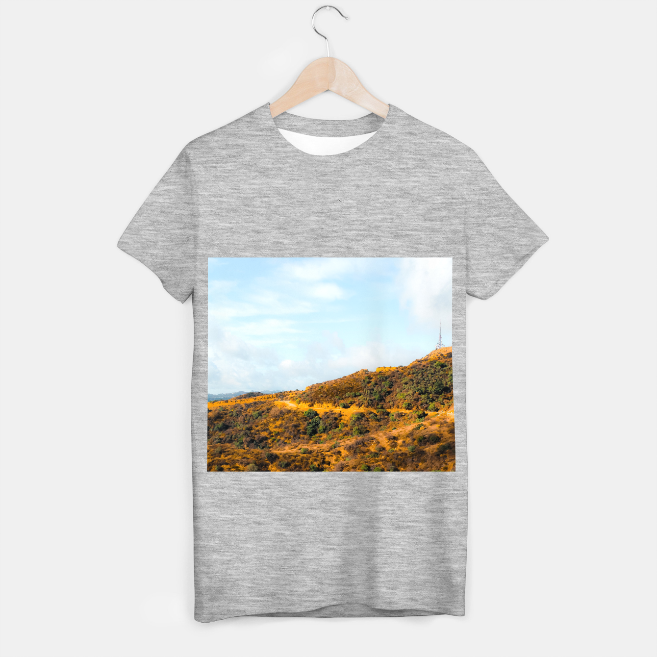 Image of Hiking trail scenic to Hollywood Sign, Los Angeles, USA T-shirt regular - Live Heroes