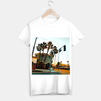 Thumbnail image of road in the city with sunrise sky at Encino, Los Angeles, USA T-shirt regular, Live Heroes