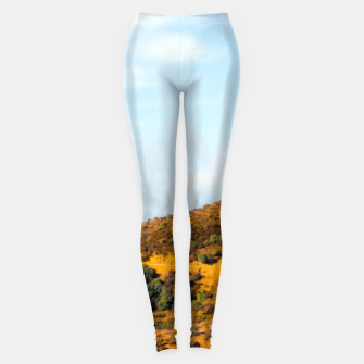 Hiking trail scenic to Hollywood Sign, Los Angeles, USA Leggings thumbnail image