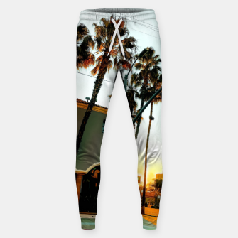 Miniatur road in the city with sunrise sky at Encino, Los Angeles, USA Sweatpants, Live Heroes