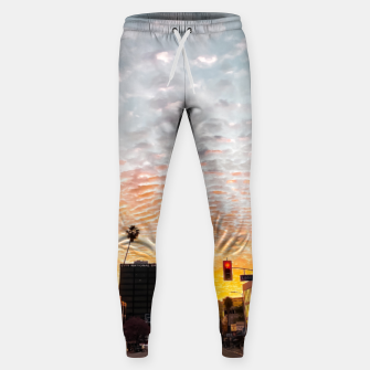 Miniatur city sunrise at Encino, Los Angeles, USA Sweatpants, Live Heroes