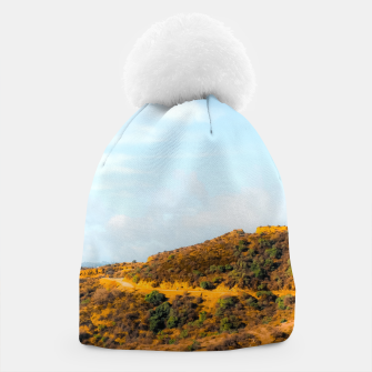 Hiking trail scenic to Hollywood Sign, Los Angeles, USA Beanie thumbnail image