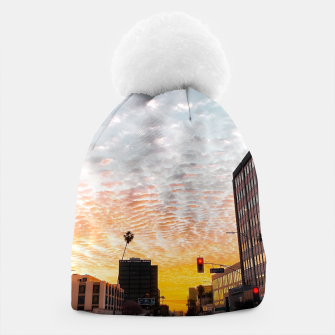 Thumbnail image of city sunrise at Encino, Los Angeles, USA Beanie, Live Heroes