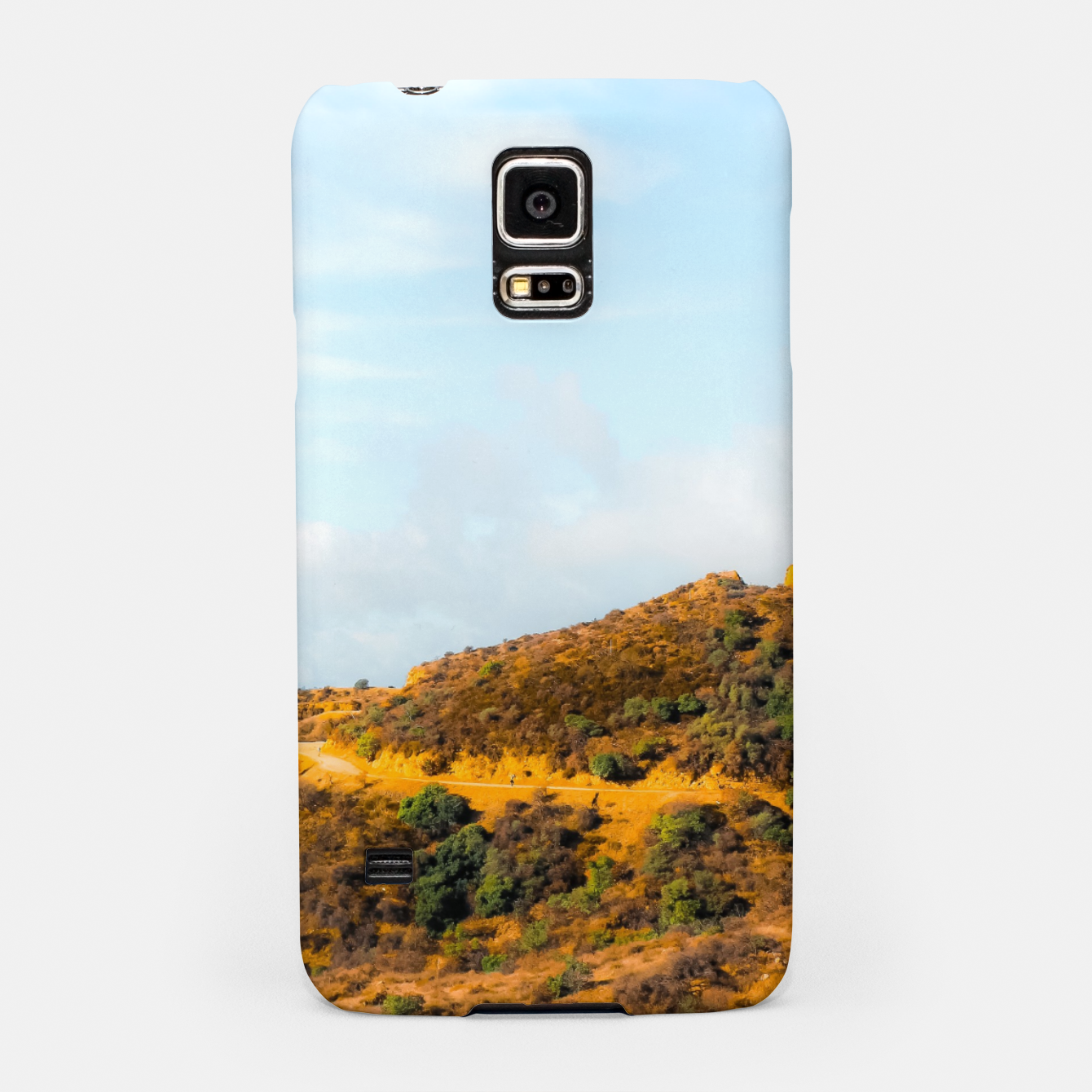 Image of Hiking trail scenic to Hollywood Sign, Los Angeles, USA Samsung Case - Live Heroes