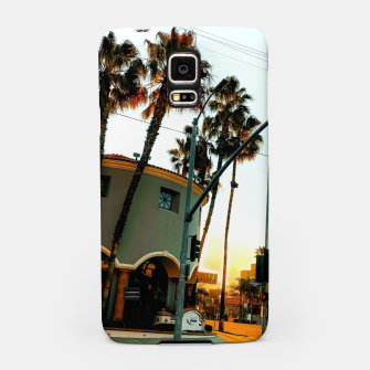 Miniatur road in the city with sunrise sky at Encino, Los Angeles, USA Samsung Case, Live Heroes