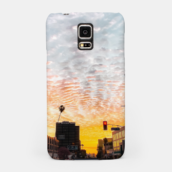 Thumbnail image of city sunrise at Encino, Los Angeles, USA Samsung Case, Live Heroes