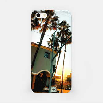 Miniatur road in the city with sunrise sky at Encino, Los Angeles, USA iPhone Case, Live Heroes
