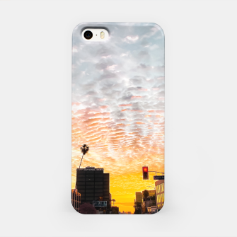 Miniatur city sunrise at Encino, Los Angeles, USA iPhone Case, Live Heroes