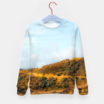 Hiking trail scenic to Hollywood Sign, Los Angeles, USA Kid's sweater thumbnail image