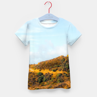 Hiking trail scenic to Hollywood Sign, Los Angeles, USA Kid's t-shirt thumbnail image
