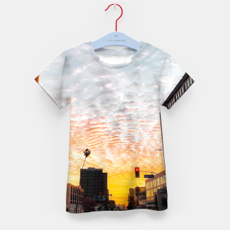 Miniatur city sunrise at Encino, Los Angeles, USA Kid's t-shirt, Live Heroes
