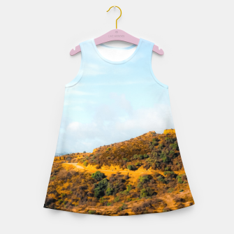 Hiking trail scenic to Hollywood Sign, Los Angeles, USA Girl's summer dress thumbnail image