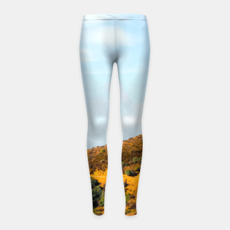 Hiking trail scenic to Hollywood Sign, Los Angeles, USA Girl's leggings thumbnail image