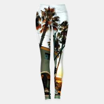 Thumbnail image of road in the city with sunrise sky at Encino, Los Angeles, USA Leggings, Live Heroes