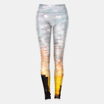 Miniatur city sunrise at Encino, Los Angeles, USA Leggings, Live Heroes