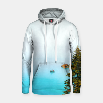 Thumbnail image of boat on the blue lake at Lake Tahoe, California, USA Hoodie, Live Heroes