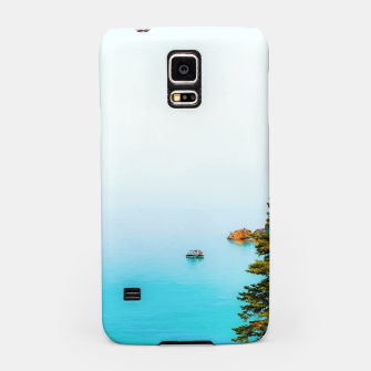 Thumbnail image of boat on the blue lake at Lake Tahoe, California, USA Samsung Case, Live Heroes