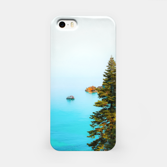 Thumbnail image of boat on the blue lake at Lake Tahoe, California, USA iPhone Case, Live Heroes