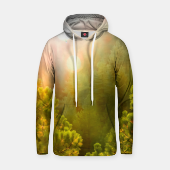 Thumbnail image of green pine tree with sunlight at Lake Tahoe, Nevada, USA Hoodie, Live Heroes