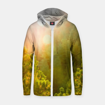 Thumbnail image of green pine tree with sunlight at Lake Tahoe, Nevada, USA Zip up hoodie, Live Heroes