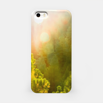 Thumbnail image of green pine tree with sunlight at Lake Tahoe, Nevada, USA iPhone Case, Live Heroes
