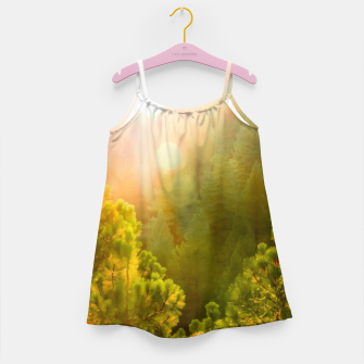 Thumbnail image of green pine tree with sunlight at Lake Tahoe, Nevada, USA Girl's dress, Live Heroes