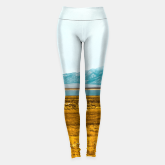 Thumbnail image of dry grass field and mountains background in California Leggings, Live Heroes