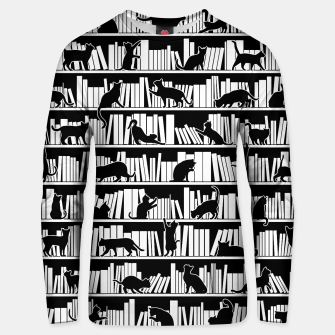 All I Need Is Books & Cats Bookish Book & Cat Lover Pattern Unisex sweater thumbnail image