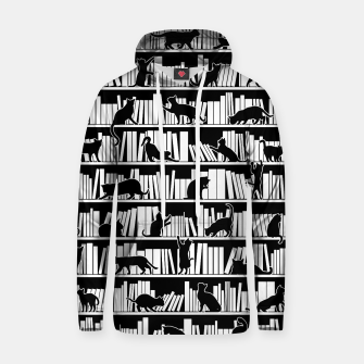 All I Need Is Books & Cats Bookish Book & Cat Lover Pattern Hoodie thumbnail image