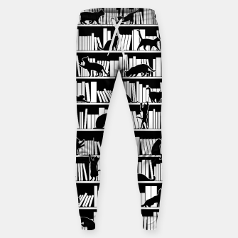 All I Need Is Books & Cats Bookish Book & Cat Lover Pattern Sweatpants thumbnail image