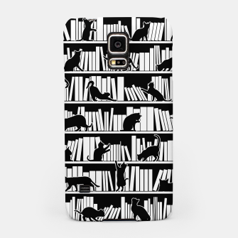 Miniatur All I Need Is Books & Cats Bookish Book & Cat Lover Pattern Samsung Case, Live Heroes