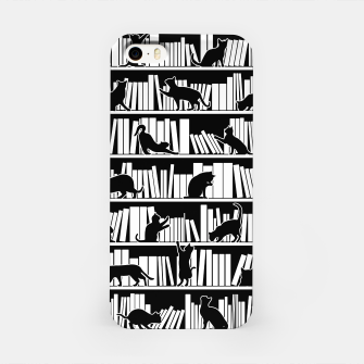 All I Need Is Books & Cats Bookish Book & Cat Lover Pattern iPhone Case thumbnail image