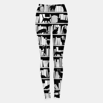 All I Need Is Books & Cats Bookish Book & Cat Lover Pattern Leggings thumbnail image