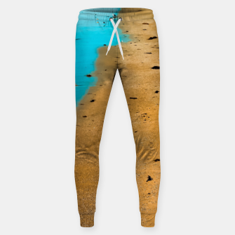 Thumbnail image of sandy beach and blue water at Manhattan Beach, California, USA Sweatpants, Live Heroes