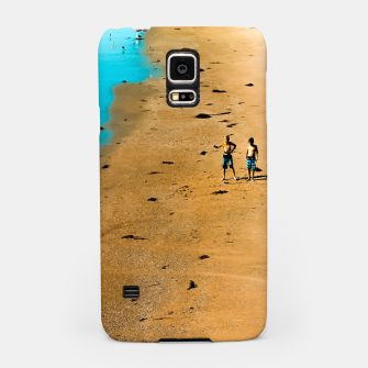 Thumbnail image of sandy beach and blue water at Manhattan Beach, California, USA Samsung Case, Live Heroes