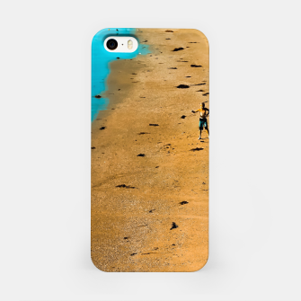 Thumbnail image of sandy beach and blue water at Manhattan Beach, California, USA iPhone Case, Live Heroes
