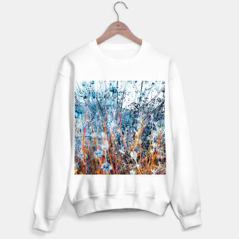 Thumbnail image of blooming dry wildflowers with dry grass field background Sweater regular, Live Heroes