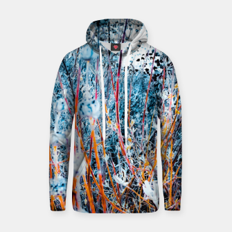 Thumbnail image of blooming dry wildflowers with dry grass field background Hoodie, Live Heroes
